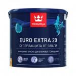 Tikkurila Euro Extra 20 краска для влажных помещений полуматовая База А 0,9 л