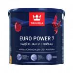 Tikkurila Euro Power 7  краска матовая моющаяся База А 0,9 л