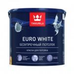 Tikkurila Euro White краска для потолка белая глубокоматовая 2,7 л