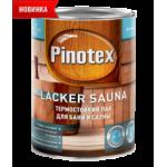 PINOTEX LACKER SAUNA 20 лак на водной основе, термостойкий, полуматовый 2,7 л