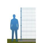 Ограждение на бетонном основании В2030 синее (RAL 5010)