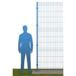 Ограждение на бетонном основании В2430 синее (RAL 5010)