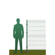 Ограждение на винтовых опорах В1530 зеленое (RAL 6005)