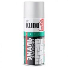 KUDO KU-1101 Эмаль аэрозольная алкидная белая матовая (0,52л)