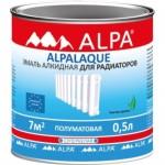 Alpa  Альпалак полуматовая эмаль для радиаторов полуматовая 0,5 л