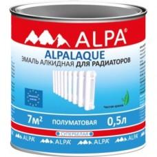 Alpa Альпалак полуматовая эмаль для радиаторов полуматовая 2,5 л