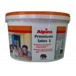 """""""Alpina Premiumlatex 3"""" краска универсальная, акрилатно-латексная, профи 2,35л"""
