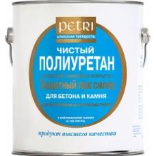 Petri лак полиуретановый по бетону и камню универсальный глянцевый 9,5 л