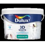 Dulux Новая ослепительно белая 3D White краска водно-дисперсионная матовая для стен и потолков на основе мрамора с добавлением оптического отбеливателя 10 л