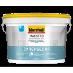 Marshall Белый Потолок Люкс краска для потолка мат 9 л