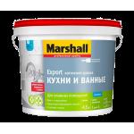 Marshall для кухни и ванной влагостойкая краска для влажных помещений база BC 0,9 л