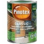 PINOTEX Classic Декоративно-защитная пропитка для древесины /деревяных фасадов/  орегон 10л