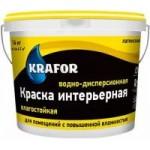 Краска интерьерная влагостойкая водно-дисперсионная латексная KRAFOR