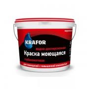 Краска интерьерная моющаяся Krafor, глубокоматовая