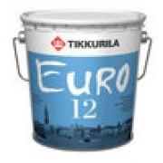 """""""Tikkurila EURO 12 / ЕВРО 12"""" краска акриловая полуматовая, интерьерная 0.9л"""