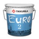 """""""Tikkurila EURO 2 / ЕВРО 2"""" краска водно-дисперсионная глубоко матовая, интерьерная 18л"""