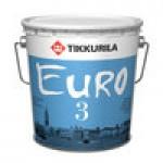 """""""Tikkurila EURO 3 / ЕВРО 3"""" краска акриловая глубоко матовая, интерьерная 0.9л"""