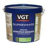 """Краска акриловая """"SUPETWHITE"""" ВД-АК-1180 для наружных и внутренних работ супербелая моющаяся 1.5кг"""