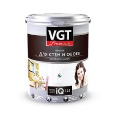 """Kраска акриловая """"Premium IQ 123"""" для стен и обоев стойкая к мытью База-А 0.8л"""