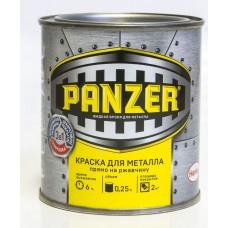 """Краска эмалевая гладкая """"Panzer"""", для металла, цвет: серый (7017)"""