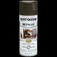 Эмаль антикоррозионная с эффектом металлик Stops Rust® Metallic Spray Тёмная бронза