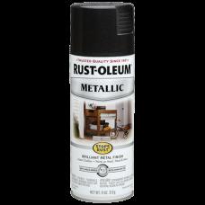 Эмаль антикоррозионная с эффектом металлик Stops Rust® Metallic Spray Чёрная ночь