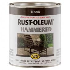 Эмаль антикоррозионная с молотковым эффектом Stops Rust® Hammered Коричневый