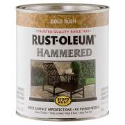 Эмаль антикоррозионная с молотковым эффектом Stops Rust® Hammered Золото