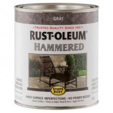 Эмаль антикоррозионная с молотковым эффектом Stops Rust® Hammered Серый