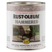 Эмаль антикоррозионная с молотковым эффектом Stops Rust® Hammered Серебро