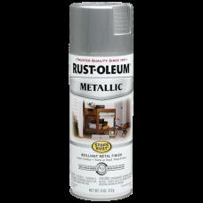 Эмаль антикоррозионная с эффектом металлик Stops Rust® Metallic Spray Серебро