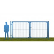 Ворота распашные В1730*Ш3500 без фланца синие (RAL 5010)