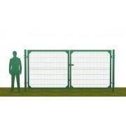 Ворота распашные В2030*Ш3500 без фланца зеленые (RAL 6005)