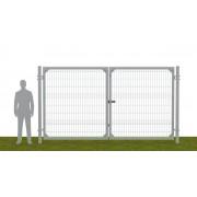 Ворота распашные В2030*Ш3500 без фланца серые (RAL 7040)